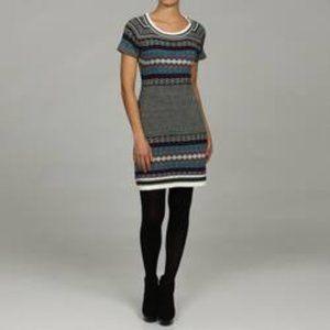 Jessica Simpson Fair Isle Sweater Dress Sz S